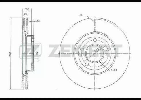 Zekkert BS-5253 - Bremžu diski interparts.lv