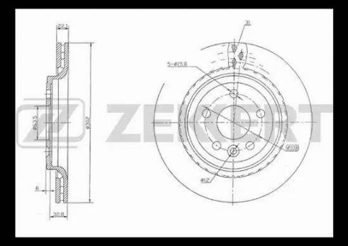 Zekkert BS-5264 - Bremžu diski interparts.lv