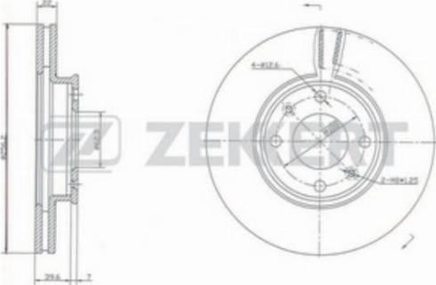 Zekkert BS-5261 - Bremžu diski interparts.lv