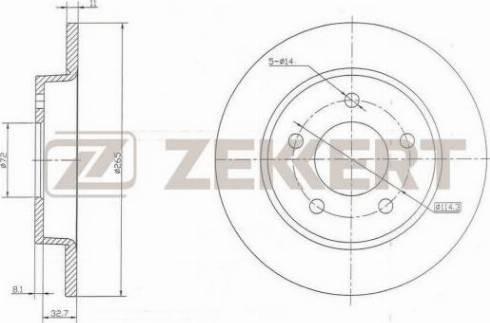 Zekkert BS-5267 - Bremžu diski interparts.lv