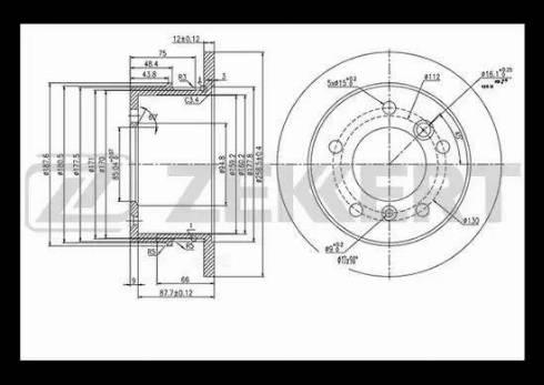 Zekkert BS-5200 - Bremžu diski interparts.lv