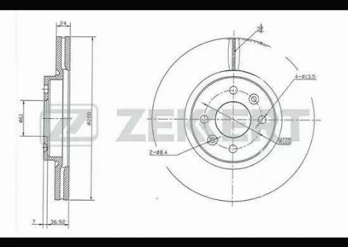 Zekkert BS-5214 - Bremžu diski interparts.lv