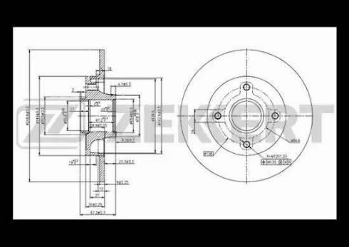 Zekkert BS-5216 - Bremžu diski interparts.lv