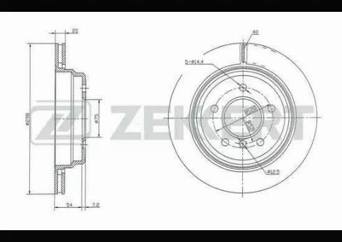 Zekkert BS-5210 - Bremžu diski interparts.lv