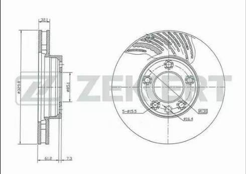 Zekkert BS-5284 - Bremžu diski interparts.lv