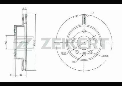 Zekkert BS-5238 - Bremžu diski interparts.lv