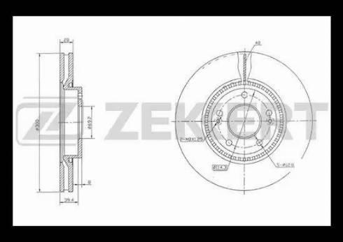 Zekkert BS-5274 - Bremžu diski interparts.lv