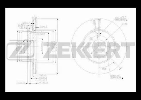 Zekkert BS-5276 - Bremžu diski interparts.lv