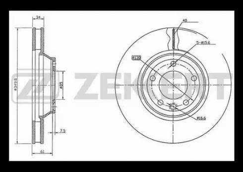 Zekkert BS-5793 - Bremžu diski interparts.lv