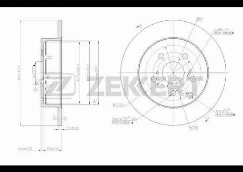 Zekkert BS-5703 - Bremžu diski interparts.lv