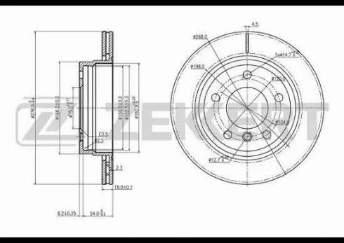 Zekkert BS-5789 - Bremžu diski interparts.lv