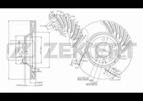 Zekkert BS-5784 - Bremžu diski interparts.lv