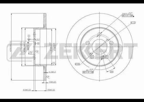 Zekkert BS-5785 - Bremžu diski interparts.lv