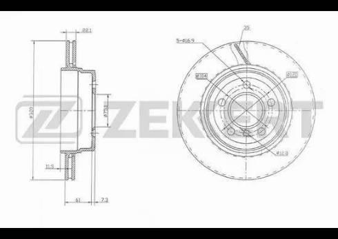 Zekkert BS-5783 - Bremžu diski interparts.lv