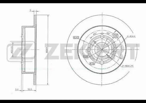 Zekkert BS-5726 - Bremžu diski interparts.lv
