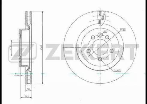Zekkert BS-5721 - Bremžu diski interparts.lv