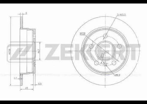 Zekkert BS-5771 - Bremžu diski interparts.lv