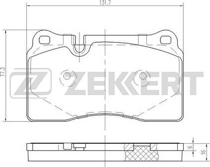 Zekkert BS-1255 - Bremžu uzliku kompl., Disku bremzes interparts.lv