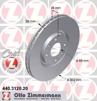 Zimmermann 440.3120.20 - Bremžu diski interparts.lv