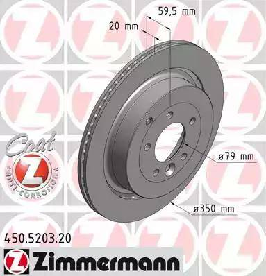 Zimmermann 450.5203.20 - Bremžu diski interparts.lv