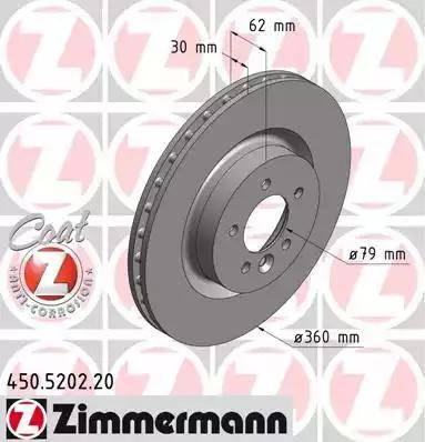 Zimmermann 450.5202.20 - Bremžu diski interparts.lv
