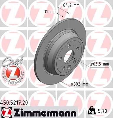 Zimmermann 450.5217.20 - Bremžu diski interparts.lv