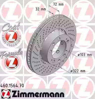 Zimmermann 460.1564.70 - Bremžu diski interparts.lv