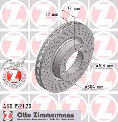 Zimmermann 460.1521.20 - Bremžu diski interparts.lv