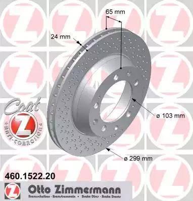 Zimmermann 460.1522.20 - Bremžu diski interparts.lv