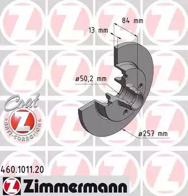 Zimmermann 460.1011.20 - Bremžu diski interparts.lv