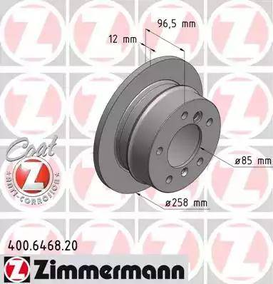 Zimmermann 400.6468.20 - Bremžu diski interparts.lv