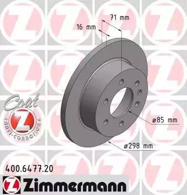 Zimmermann 400.6477.20 - Bremžu diski interparts.lv