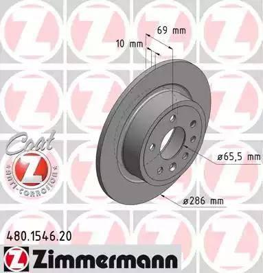 Zimmermann 480.1546.20 - Bremžu diski interparts.lv
