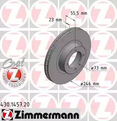 Zimmermann 430.1457.20 - Bremžu diski interparts.lv
