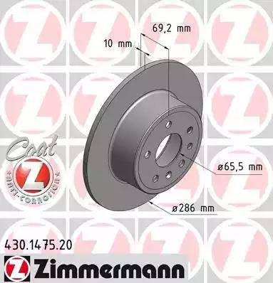Zimmermann 430.1475.20 - Bremžu diski interparts.lv