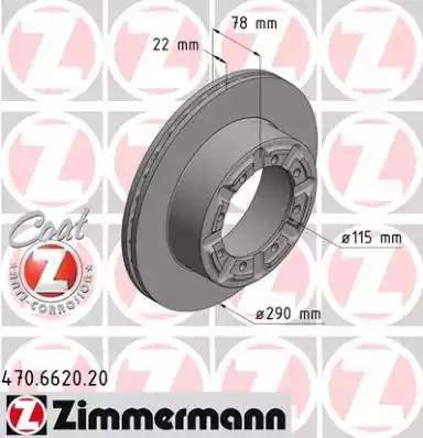 Zimmermann 470.6620.20 - Bremžu diski interparts.lv