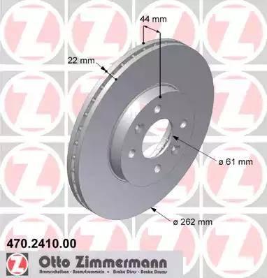 Zimmermann 470.2410.00 - Bremžu diski interparts.lv