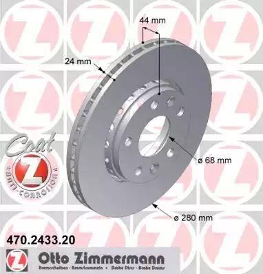 Zimmermann 470.2433.20 - Bremžu diski interparts.lv