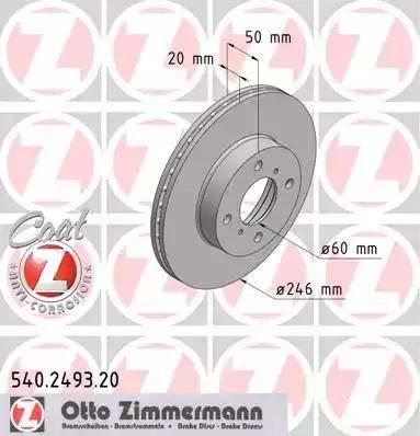 Zimmermann 540.2493.20 - Bremžu diski interparts.lv