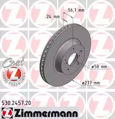 Zimmermann 530.2457.20 - Bremžu diski interparts.lv