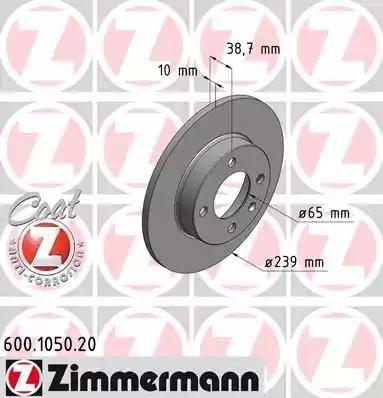 Zimmermann 600.1050.20 - Bremžu diski interparts.lv