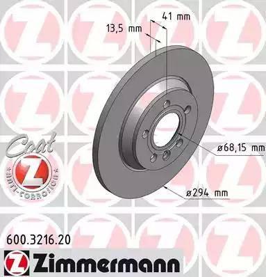 Zimmermann 600.3216.20 - Bremžu diski interparts.lv