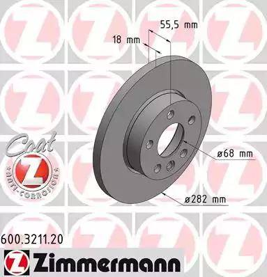 Zimmermann 600.3211.20 - Bremžu diski interparts.lv
