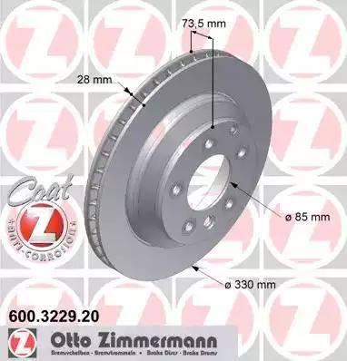 Zimmermann 600.3229.20 - Bremžu diski interparts.lv