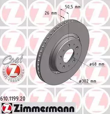 Zimmermann 610.1199.20 - Bremžu diski interparts.lv