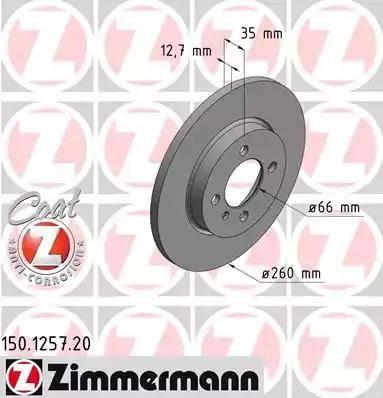 Zimmermann 150.1257.20 - Bremžu diski interparts.lv