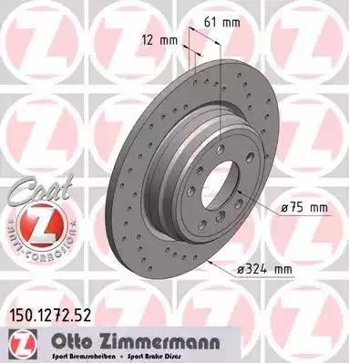Zimmermann 150.1272.52 - Bremžu diski interparts.lv