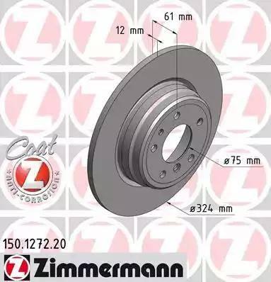 Zimmermann 150.1272.20 - Bremžu diski interparts.lv