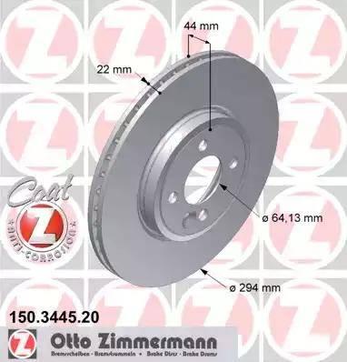 Zimmermann 150.3445.20 - Bremžu diski interparts.lv