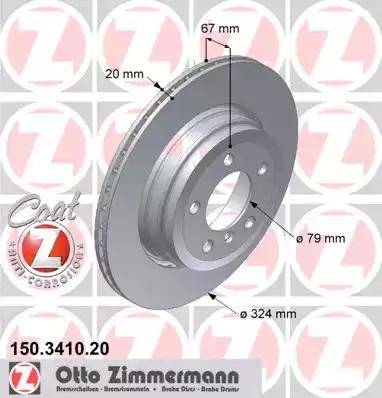 Zimmermann 150.3410.20 - Bremžu diski interparts.lv